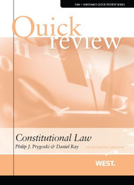 QUICK REVIEW ON CONSTITUTIONAL LAW (18TH, 2013) 9780314289759