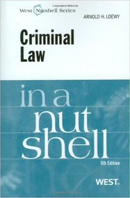 CRIMINAL LAW IN A NUTSHELL (5TH, 2009) 9780314194961