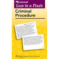 LAW IN A FLASH CARDS: CRIMINAL PROCEDURE (2013) 9781454824916