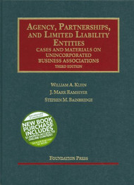 KLEIN'S AGENCY, PARTNERSHIPS, AND LIMITED LIABILITY ENTITIES: UNINCORPORATED BUSINESS ASSOCIATIONS (3RD, 2011) 9781599414973