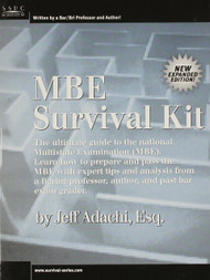 ADACHI'S MBE SURVIVAL KIT  9781882278169