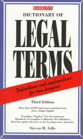 STEVEN H. GIFIS DICTIONARY OF LEGAL TERMS (1998)