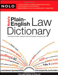 NOLO'S PLAIN-ENGLISH LAW DICTIONARY (2009) 9781413310375