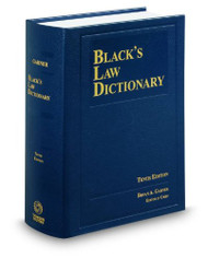 GARNER'S BLACK'S LAW DICTIONARY-HARDCOVER (10TH, 2014) 9780314613004