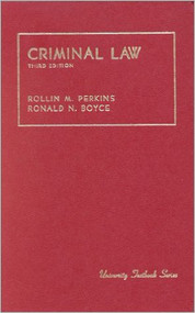 PERKINS' CRIMINAL LAW (3RD, 1982) 9780882770673