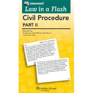 LAW IN A FLASH CARDS: CIVIL PROCEDURE II (2015) 9780735598010