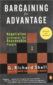 SHELL'S BARGAINING FOR ADVANTAGE (2ND, 2006) 9780143036975