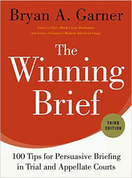 GARNER'S THE WINNING BRIEF (3RD, 2014) 9780199378357