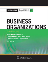 CASENOTE LEGAL BRIEFS: BUSINESS ORGANIZATIONS KEYED TO ALLEN
