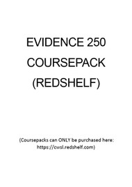 EVIDENCE 250 COURSEPACK 9780744238228