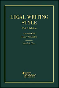 GIDI'S LEGAL WRITING STYLE (HORNBOOK SERIES) (3RD, 2018) 9781634592963