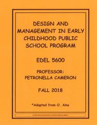 CAMERON'S EDEL 5600 (FALL 2018)