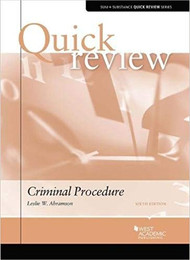 QUICK REVIEW ON CRIMINAL PROCEDURE (6TH, 2017) 9781640200852
