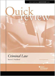 QUICK REVIEW ON CRIMINAL LAW (6TH, 2018) 9781634594431