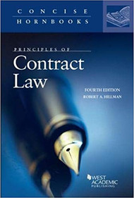 PRINCIPLES OF CONTRACT LAW (CONCISE HORNBOOK SERIES) (4TH,2018) 9781640202139