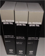 RUTTER: CIVIL PROCEDURE BEFORE TRIAL (2019) LAW SCHOOL EDITION FULL SET