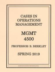 BERKLEY'S MANAGEMENT 4500 (SPRING 2019)