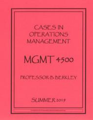 BERKLEY'S MGMT 4500 (SUMMER 2019)