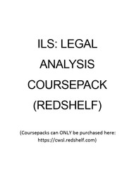 LAW 056 COURSEPACK - FALL 2019 (ILS: LEGAL ANALYSIS)