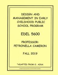 CAMERON'S EDEL 5600 (FALL 2019)