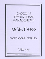 BERKLEY'S MGMT 4500 (FALL 2019)