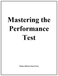 MASTERING THE PERFORMANCE TEST SELECTED COURSE MATERIALS SPRING 2020