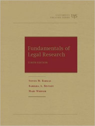 BARKAN'S FUNDAMENTALS OF LEGAL RESEARCH (10TH, 2015)  9781609300562