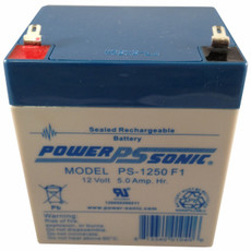 Power-sonic PS-1250 F1 Battery - 12V 5Ah SLA