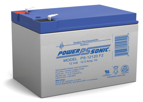 Power-sonic PS-12120 F2 Battery - 12 Volt 12.0 Amp Hour