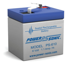 Power-sonic PS-610 Battery - 6 Volt 1.1 Amp Hour