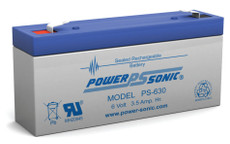 Power-sonic PS-630 Battery - 6 Volt 3.5 Amp Hour