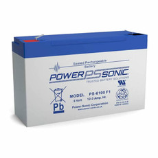 Power-sonic PS-6100 F1 Battery - 6 Volt 12.0 Amp Hour