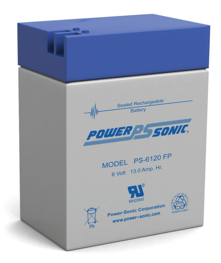 Power Sonic Ps 6120 Fp Battery 6 Volt 13 0 Amp Hour