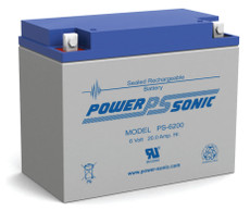 Power-sonic PS-6200 Battery - 6 Volt 20.0 AH