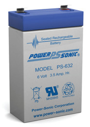Power-sonic PS-632 Battery - 6 Volt 3.5 Amp Hour