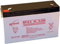Enersys Genesis NP10-6 Battery - 6 Volt 10.0 Amp Hour