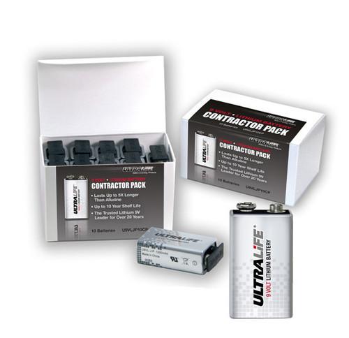U9VLJP10CP - U9VLJP10 Ultralife 9 Volt Lithium Battery - (10 Pack)