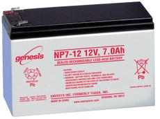 "Genesis NP7-12 Battery - 12 Volt 7.0AH Enersys, Yuasa .187"" Terminals"