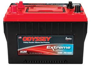 Odyssey 34M-PC1500ST-M Battery - Deep Cycle - Marine - Trolling Motor