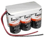 0850-0115 Enersys Cyclon Battery-12 Volt 8.0AH 2x3 Hawker w Leads