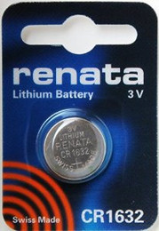 Renata CR1632 Battery - 3 Volt 125mAh Lithium Coin Cell
