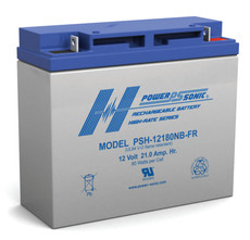 Power-sonic PSH-12180NB-FR Battery - 12 Volt 21.0 Amp Hour High Rate