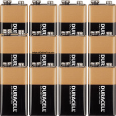 Duracell 9 Volt Alkaline Battery (12 Pack) - MN1604 Coppertop