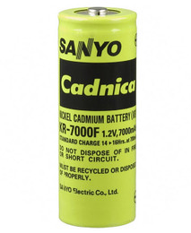 Panasonic KR-7000F F Cell Battery - 1.2 Volt 7000mAh NiCd High Temp