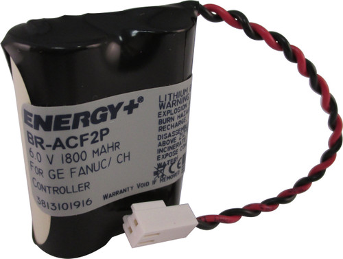 BR-ACF2P - A06B-0177-D106 Battery - Panasonic - Cutler Hammer -  GE Fanuc Battery