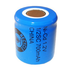 Evergreen 1.2V 700mAh Ni-Cd Rechargeable 1/2 SC Battery - N1/2SC