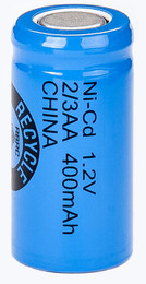 Tenergy 20101 - 2/3 AA Battery - 1.2 Volt 450mAh NiCd