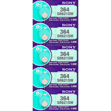 Sony SR621SW - 364 Button - Watch Battery (5 Pack)