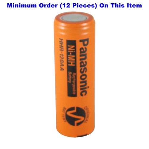 HHR-120AA Panasonic Battery - 4/5 AA NiMH 1.2 Volt 1150mAh Flat Top