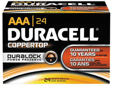 Duracell Coppertop AAA Alkaline Batteries MN2400 - MN2400B2-24 Pack